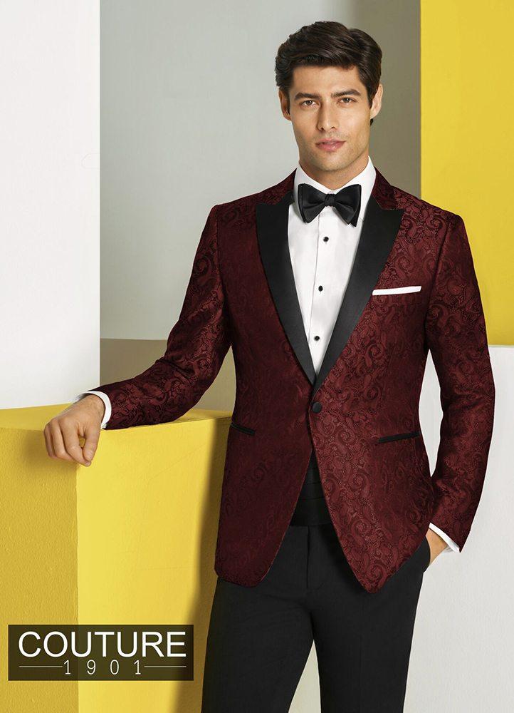 Burgundy Paisley 'Chase' Tuxedo
