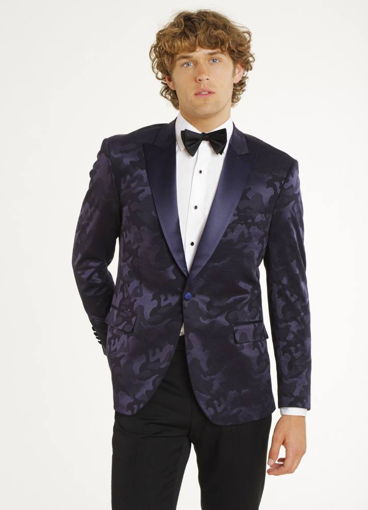 Navy Camo 'Hunter' Dinner Jacket by Couture 1910