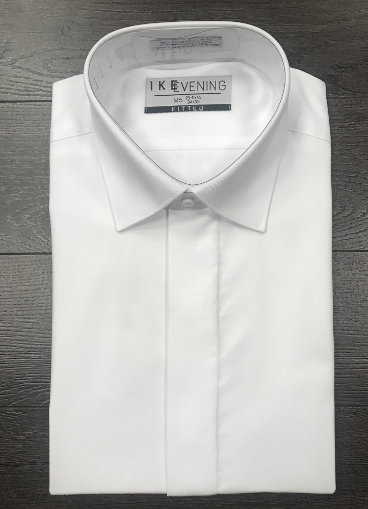 White Fly-Front Shirt