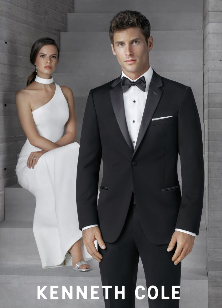 Black Stretch Kenneth Cole 'Parkville' Tux