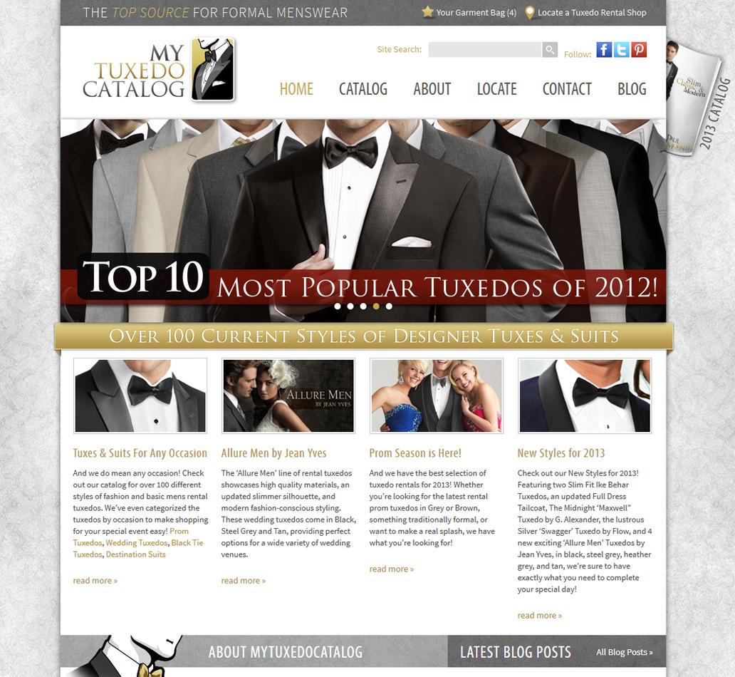 MyTuxedoCatalog.com Homepage