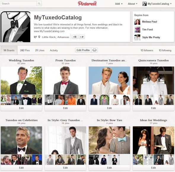 MyTuxedoCatalog.com on Pinterest