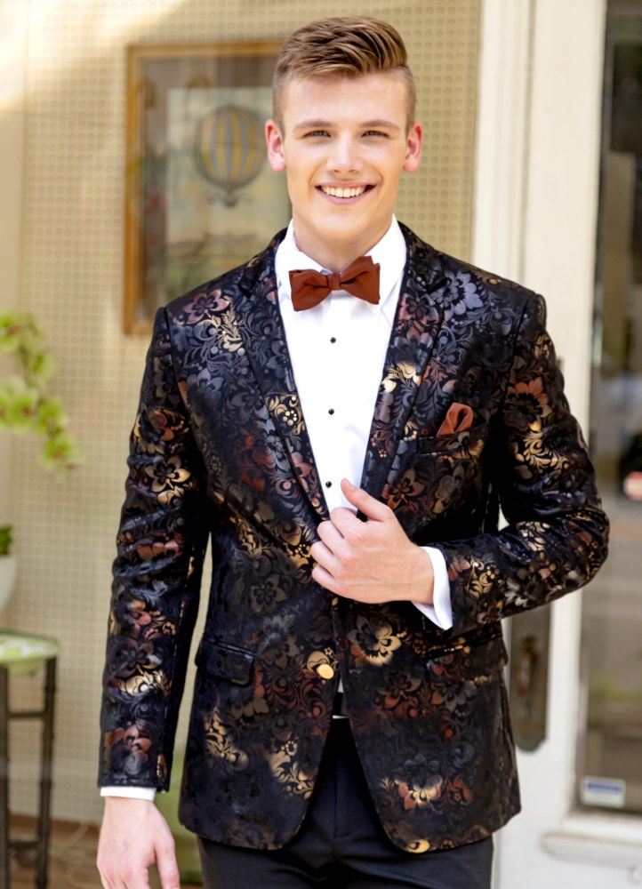 Ombre Floral 'Ryan' Dinner Jacket by Mark of Distinction