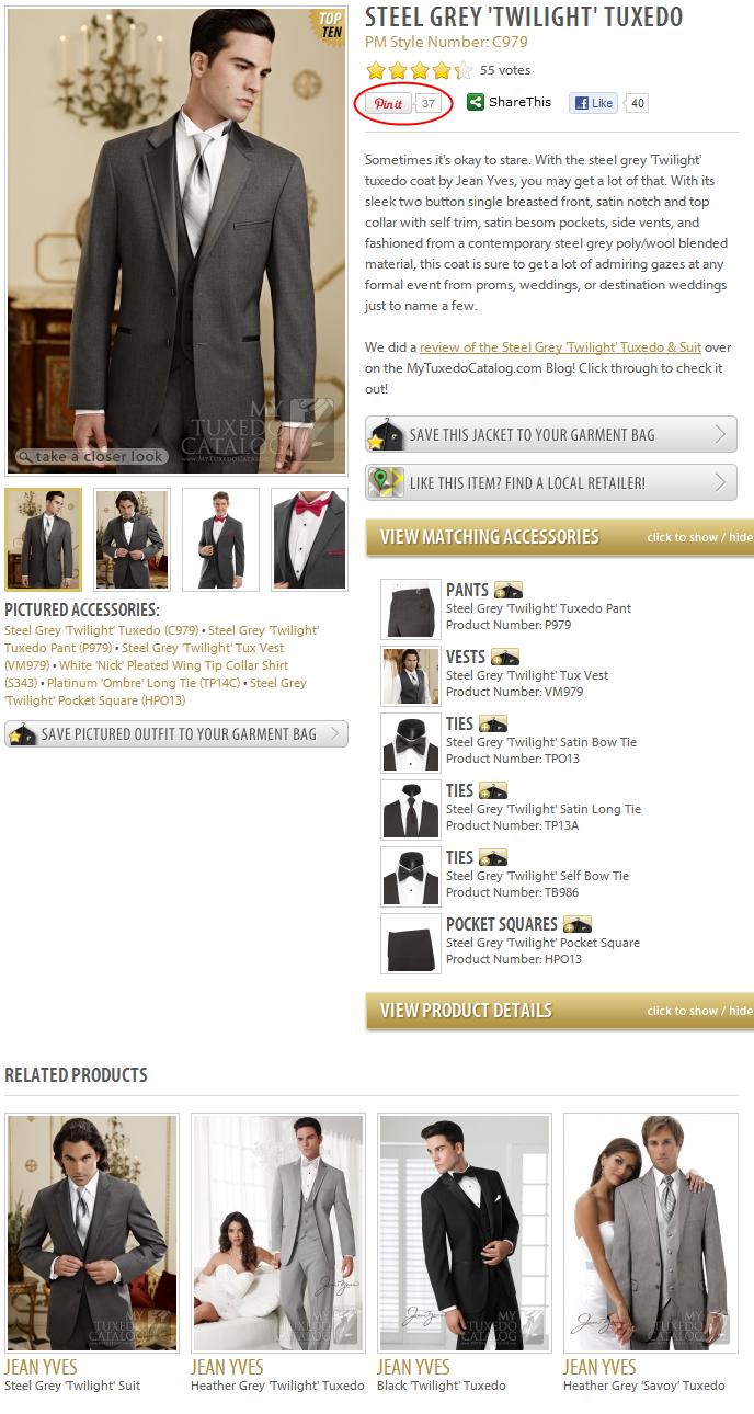 Steel Grey Twilight Tuxedo on MyTuxedoCatalog.com