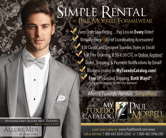 Paul Morrell Formalwear Vows Ad